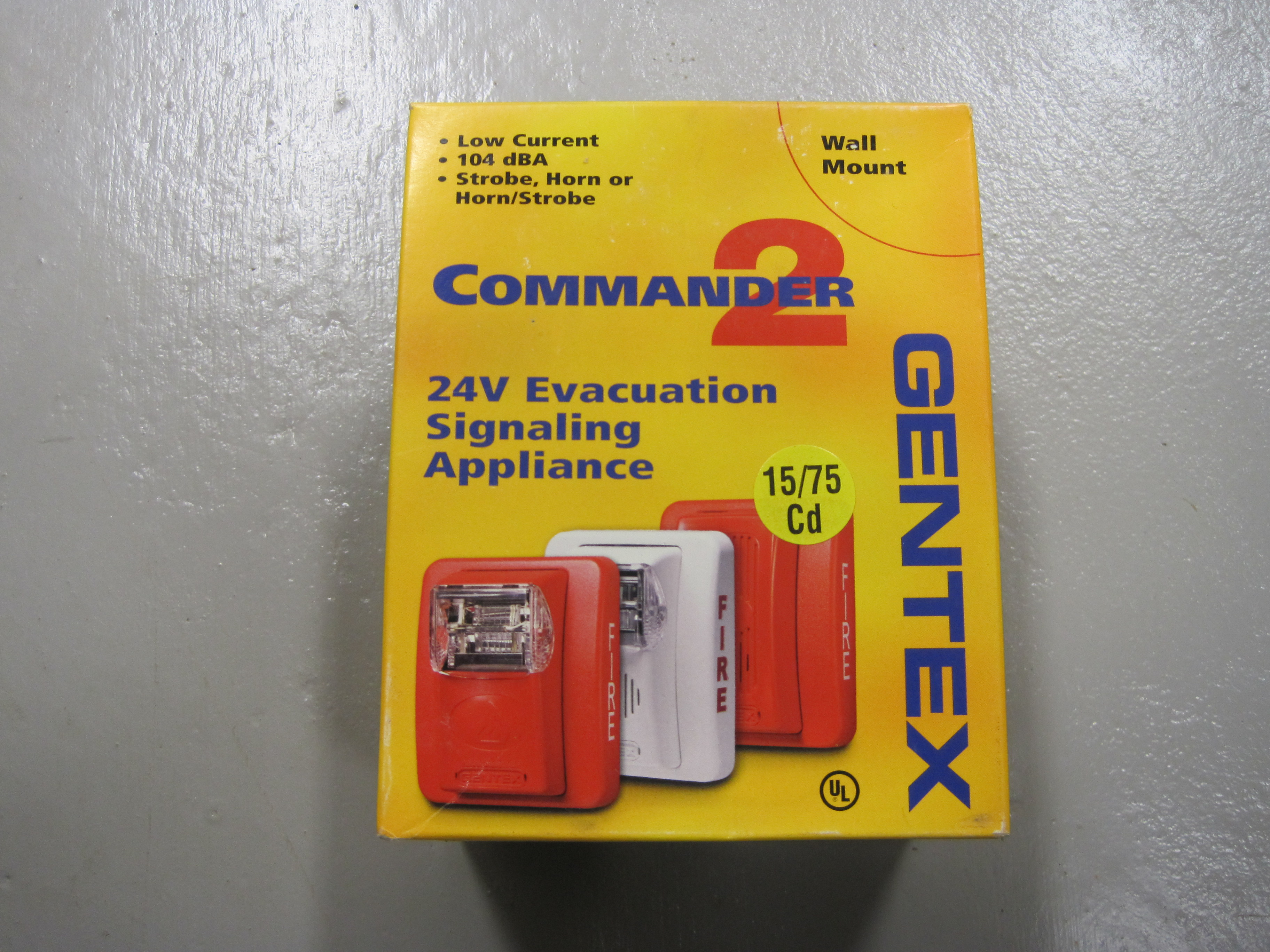118a gentex commander 2 series fire alarm ges24 15 75pww $50 00
